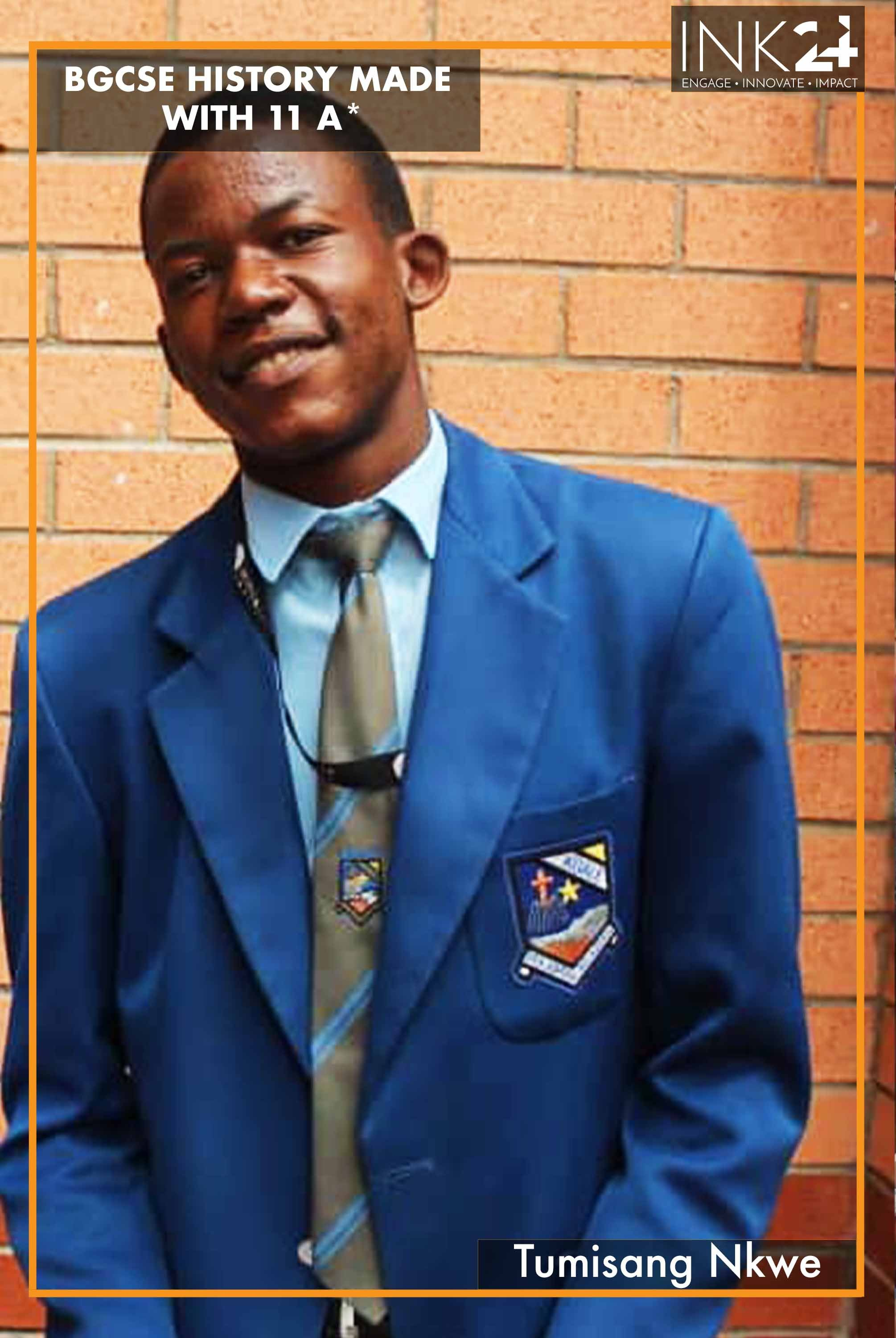 Tumisang Nkwe makes history by scooping 11 straight A* in BGCSE
